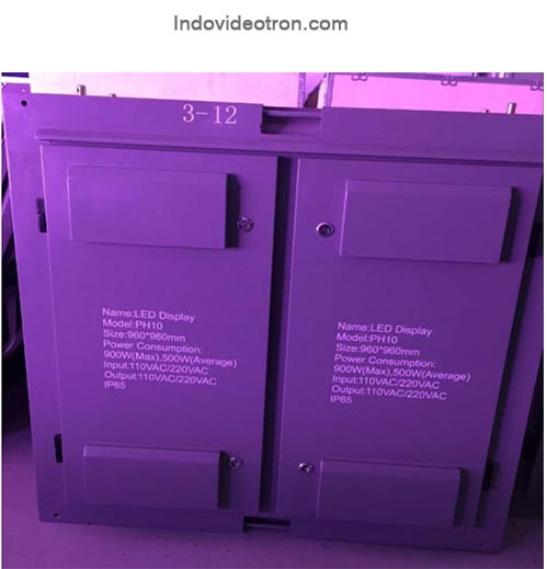 Videotron P10 DIP 346 RGB outdoor led cabinets belakang indovideotron.com