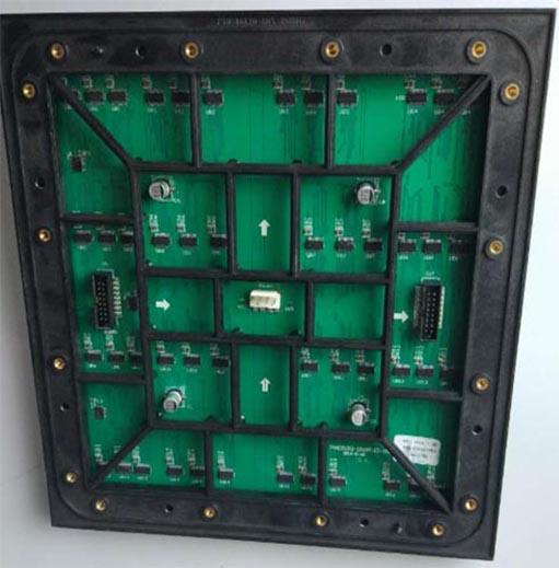 Videotron Type P16 SMD3535 outdoor RGB led module 256x256mm back luar ruangan