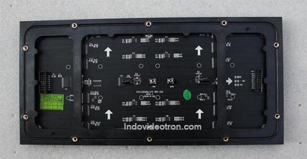 videotron type P10 SMD3528 indoor RGB led module 1/8 scan back dalam ruangan